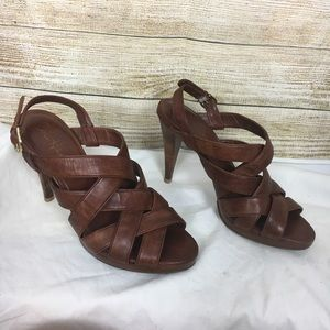 Cole Haan Air Strappy Leather Sandal Heels